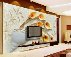 Wall Murals 3d Compare Prices On Calla Lily Wallpaper Online Shopping Buy Low