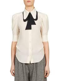 sleeveless tie neck blouse chloé contrast tie neck blouse black s tops sleeve