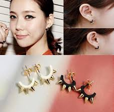 top earing top quality u type retro pin piercing earrings rock