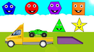 monster truck toy videos learn shapes and race monster trucks toys videos for kids children