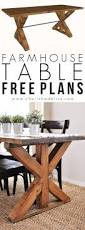 Free Diy Table Plans by Best 25 Farmhouse Table Plans Ideas On Pinterest Diy Farmhouse
