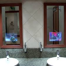 tv in the mirror bathroom bathroom mirrors with built in tvs