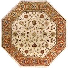 Home Depot Wool Area Rugs Artistic Weavers Morsse Golden Beige Wool 8 Ft Octagon Area Rug