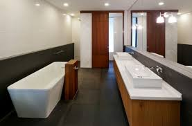 bathroom double sinks large mirror modern home in kuala lumpur