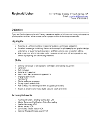 Resume For Photography Job by Sample Photographer Resume Template Examples Awesome Resume