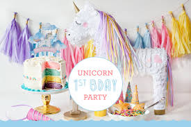 how to throw a unicorn first birthday party fisher price