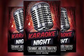 karaoke party flyer template flyer templates creative market