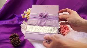marriage invitation card design purple wedding invitation card design with purple ribbon