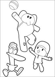 pocoyo coloring picture coloring pages pocoyo