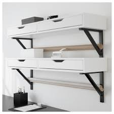 ikea malaysia catalogue ekby alex ekby valter shelf with drawer white black ikea