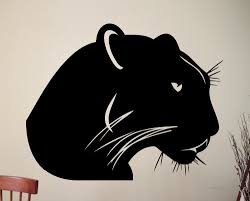 online get cheap office wall decals aliexpress com alibaba group panther vinyl sticker wildcat animal wall decal office dorm home room interior decoration black poster art