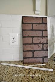 faux brick backsplash in kitchen kitchen modern brick backsplash kitchen ideas id brick kitchen