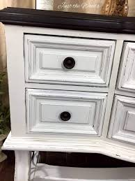 timeless white buffet painted u0026 distressed by just the woods