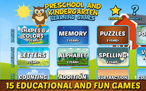 preschool and kindergarten learning games android apps on google