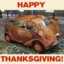 happy thanksgiving from mossy fiat turkey car courtesy of