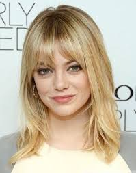 a frame hairstyles with bangs best medium length hairstyles with highlights