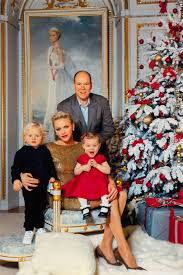 family christmas monaco royal family releases most glam christmas card