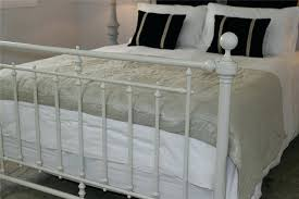 White Double Metal Bed Frame Metal Bed Frame White U2013 Bare Look