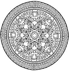 print u0026 download complex flower coloring pages for adults