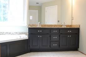 Dark Gray Bathroom Vanity by Bathroom Vanity After Painting What Color Looks Best For Spray