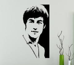 online get cheap martial arts stickers aliexpress com alibaba group actor bruce lee kung fu cool ethylene vinyl decal stickers martial arts home decor mural art decal wall stickers bedroom f 82
