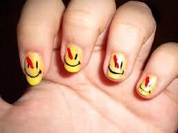 easy nail art characters cute nail art ideas with smile logo of image b e a u t y nail art