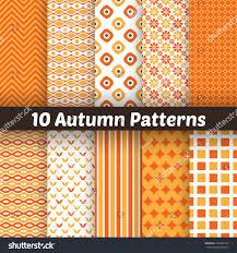 halloween background patterns 10 autumn vector seamless patterns endless stock vector 210283144