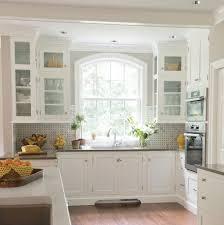 kitchen kitchen bay window seat tall glass front upper cabinet 3