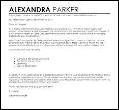 reservation agent cover letter sample livecareer