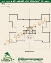 basement plan lotus greens independent floor plan