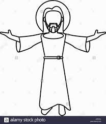 jesus outline coloring pages coloring pages