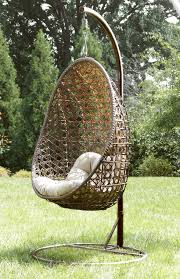 mayfield wicker egg swing chair stand brown cushion home design