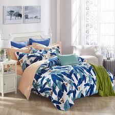 banana leaves print duvet cover set bedlinens high quality thick sanding cotton queen king size bedding