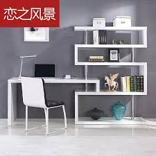 floating landscape modern minimalist white paint shelves corner desk desktop home computer desk use floating shelves to create the desk and attach to wall