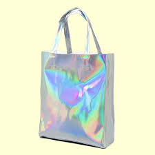 holographic bags holographic tote bag so aesthetic