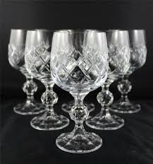 stunning bohemia diamond cut crystal wine glasses crystal wine