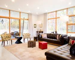 Living Room With Brown Leather Sofa Modern Brown Leather Home Design Ideas Pictures Remodel