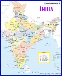 India Political Map Maps In English Eat Half Bread Educate Children