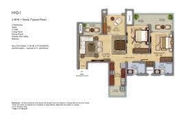 2bhk House Plans Mahagun Meadows Noida Mahagun Meadows Noida Floor Plan Site
