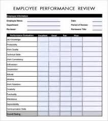 google employee evaluation form free resume templates to