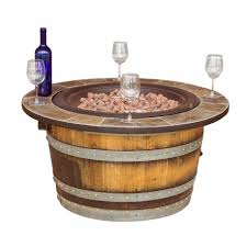 wine barrel fire table barrel fire pit