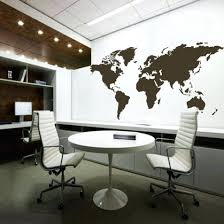 World Map Home Decor Office Design Colorful Pattern World Map Wall Stickers Removable