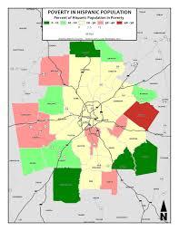 Atlanta County Map Proportion Of Hispanic Population In Poverty U2013 Metro Counties