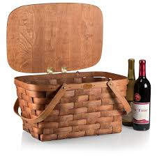 wine picnic baskets picnic time prairie picnic basket kitchen dining