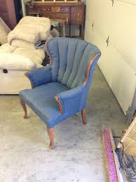 refinished blue peacock velvet wingback chairs withheart