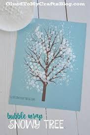 wrap snowy tree kid craft w free printable wrap