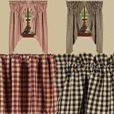 country style kitchen curtains check out the deal on gathered swags by raghu at primitive home