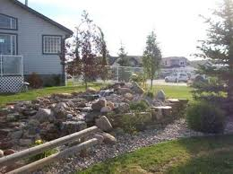 How To Regrade A Backyard How To Build A Backyard Waterfall Tips