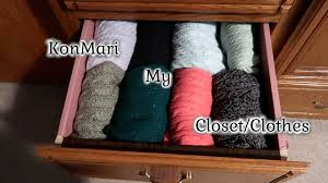 konmari my clothes decluttering my closet with the konmari
