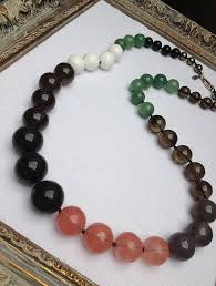 white colour necklace images Multi coloured semi precious bead necklace by harry rocks jpg